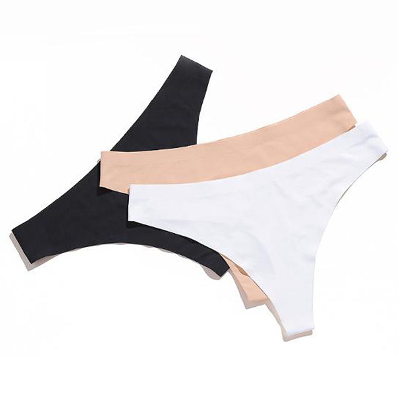 Women's Panties Comfortable Breathable Thong Female Invisible Tight Underwear ultra-thin Cotton Seamless T Panties