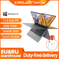Teclast F5 8GB de RAM 256GB SSD Notebook Laptop Touch Screen PC Intel Gemeos Lago N4100 1920*1080 Carga Rápida 360 Rotativo