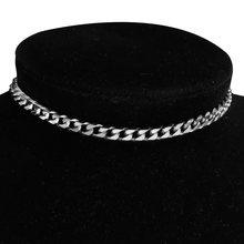 Женское колье чокер из нержавеющей стали минималистичное ожерелье