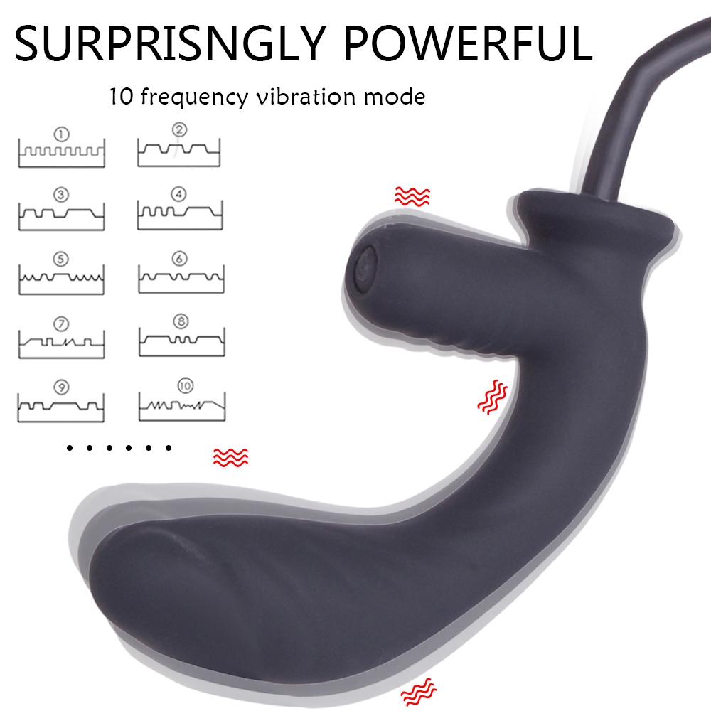 Inflatable Anal Dildo Vibrator For Men Anal G spot Stimulator Male Prostate Massager Big Butt Plug Anal Expansion Adult Sex Toys (7)