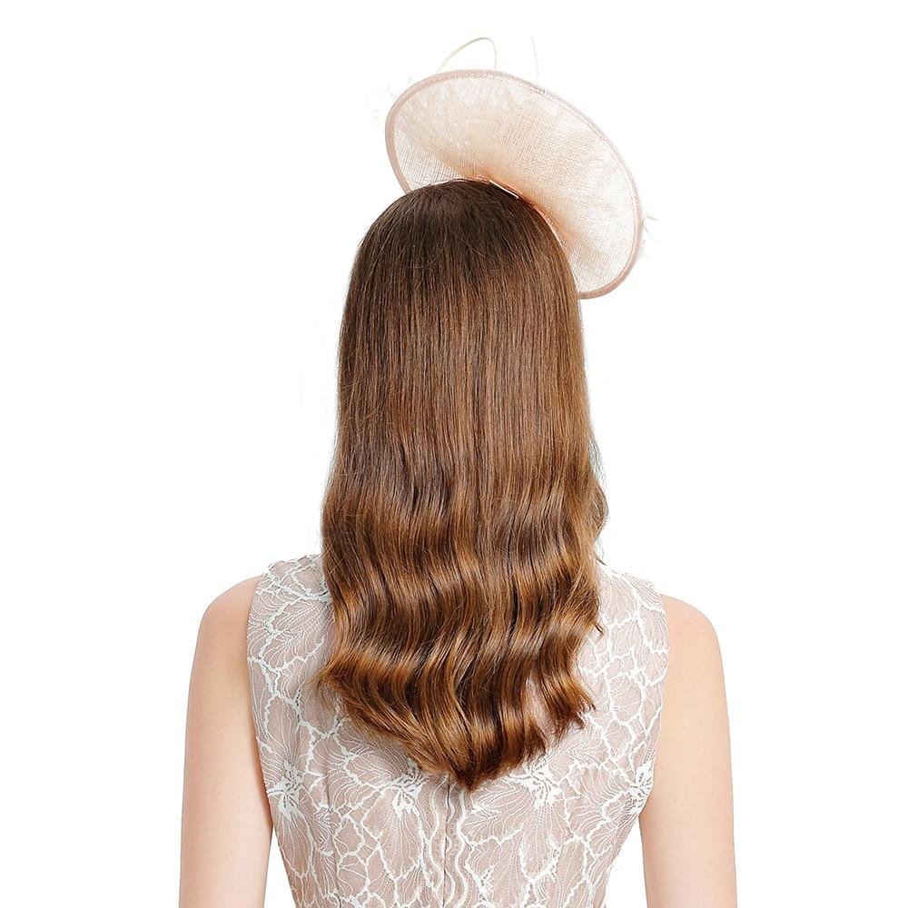 Church Hats For Pink Women Elegant Flower Linen Fedora Hat Fascinator Headband Kentucky Derby Wedding Banquet Party Cocktail Cap in Women 39 s Fedoras from Apparel Accessories