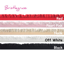 BRISTLEGRASS 5 Yard 5/8 15mm Shiny Frilly Ruffled Lace Trim Elastic Spandex Band Kids Headband Tutu Bridal Wedding Dress Sewing