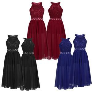 Image 5 - פרחוני תחרה בנות שמלת נסיכת ילדי בנות שמלות למסיבה וחתונה ילדי Vestidos Infantil שרוולים ארוך מקסי שמלה
