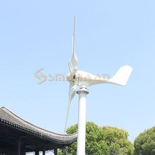 Low Wind Speed Free Energy Horizontal Windmill 3 5 6 Blades 400w 600w 800w Wind Turbine Generator 12v 24v With Free Controller cheap SMARAAD CN(Origin) SS-400 600 800 Iron Wind Power Generator Without Mounting Base white AC 48v aluminum alloy nylon
