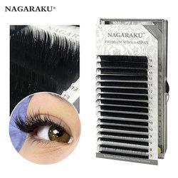 NAGARAKU Fast Ship 16rows/case 7~15mm mix premium natural synthetic mink individual eyelash extension makeup maquiagem cilios