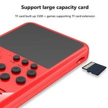 2021 M3S Handheld Videospiel-konsole 8-Bit 3,0 Zoll Farbe LCD Kinder Farbe Spiel Player Gebaut-in 1500 klassische Spiele