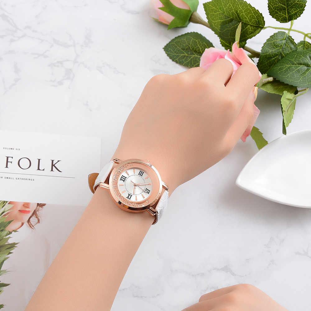 Femmes loisirs ensemble Quartz montre en cuir en acier inoxydable de haute qualité robe analogique montres 2019 marque de luxe montre de mode %