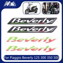 Para piaggio beverly 125 300 350 500 scooter da motocicleta 3d adesivo corpo escudo decalque protetor carenagem emblema emblema à prova d3d água