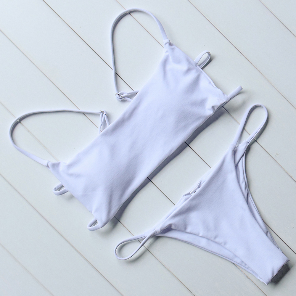 OMKAGI Brand Striped Bikini 2019 Swimsuit Swimwear Women Sexy Push Up Women's Swimming Suit Bathing Suit Micro Bikini Set 2