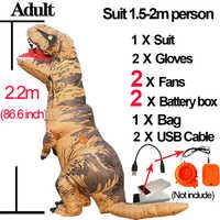 Dinosaurio T Rex adulto inflable Velociraptor disfraz mascota Cosplay dinosaurio T Rex disfraz de Halloween T disfraz de Rex para Mujeres Hombres chico