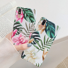 FAYDAI Fashion Leaf Flower Case For Huawei P20 Lite P30 Pro Mate 20 Back Cover TPU Silicone lite Phone Stand