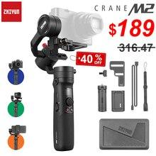 ZhiyunクレーンM2 3軸ハンドヘルドジンバルスマートフォン用コンパクトミラーカメラ & アクションカメラmaxload 500グラム
