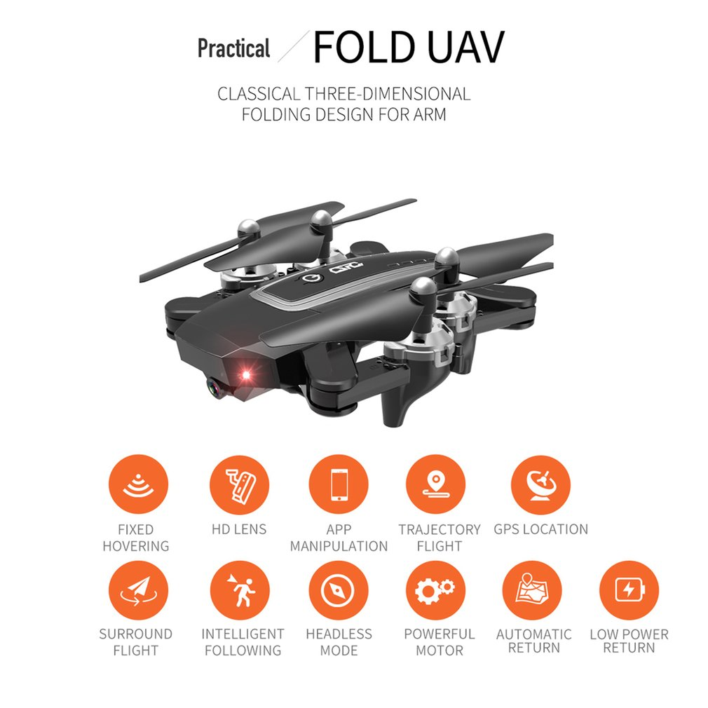 CS 5 zangão de gps com 1080 p hd câmera de dobramento drones quatro eixos helicóptero um retorno chave wifi fpv rc helicóptero menino brinquedos - 3