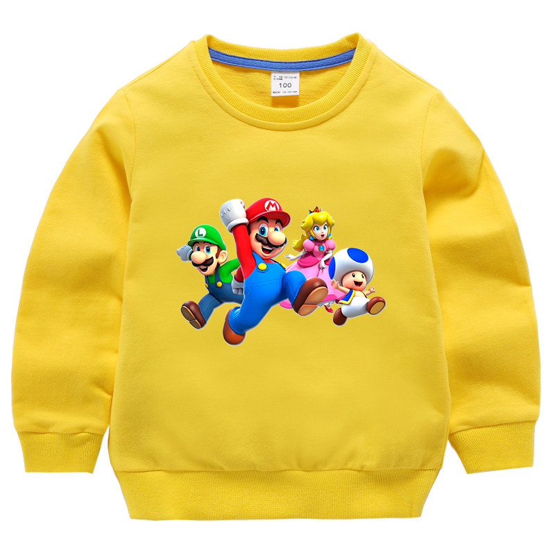 Super Mario Girls Boys Tops T-shirt Kids Summer Shirts Cartoon Costume Age 2-10Y