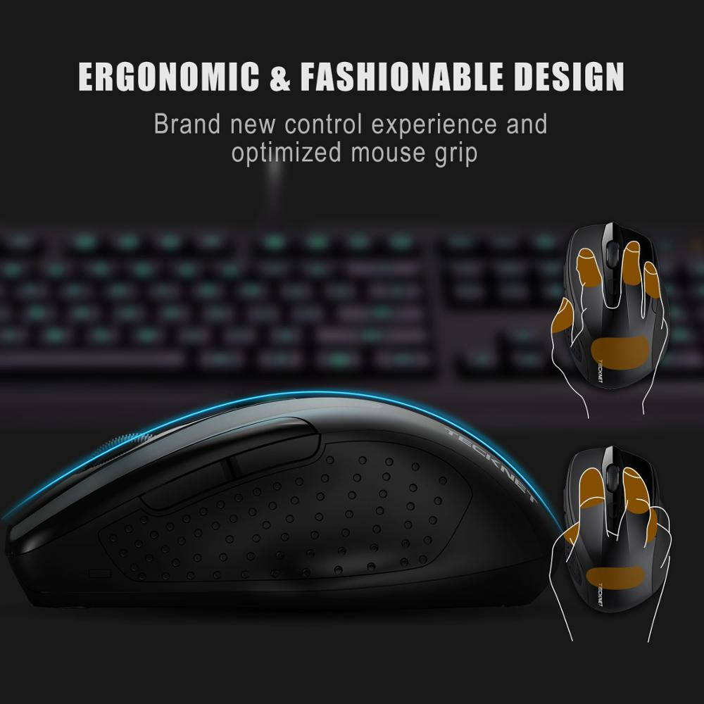 Image 4 - TeckNet Pro 2.4GHz Wireless Mouse Nano Receiver Ergonomic Mice 6 Buttons 2600DPI 5 Adjustment Levels for Computer Laptop Desktop-in Mice from Computer & Office