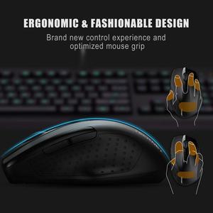 Image 5 - TeckNet Pro 2.4GHz Wireless Mouse Nano Receiver Ergonomic Mice 6 Buttons 2600DPI 5 Adjustment Levels for Computer Laptop Desktop