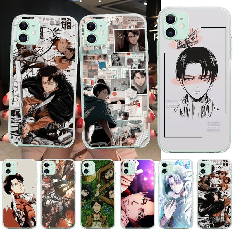 CUTEWANAN Anime Attack On Titan Levi Ackerman Phone Case Cover for iPhone 11 pro XS MAX 8 7 6 6S Plus X 5S SE 2020 XR cover