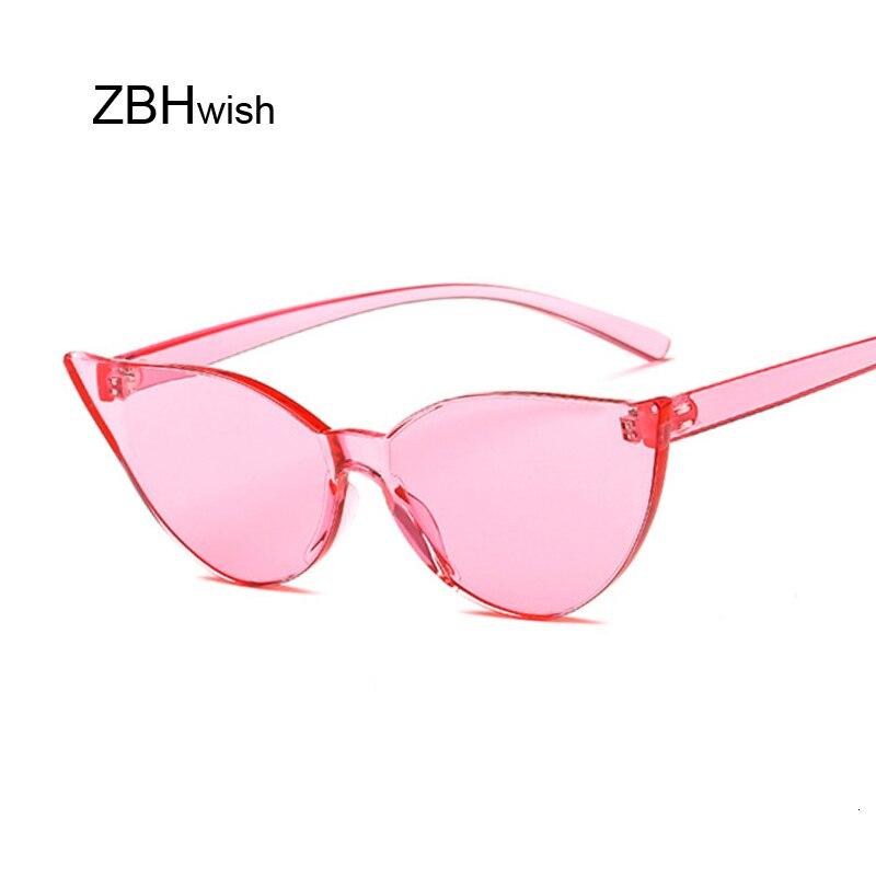 Women Vintage Pink Cat Eye Sunglasses New Lovely Sun Glasses For Ladies Cute Sexy Brand Designer Fashion Cool Retro Uv400