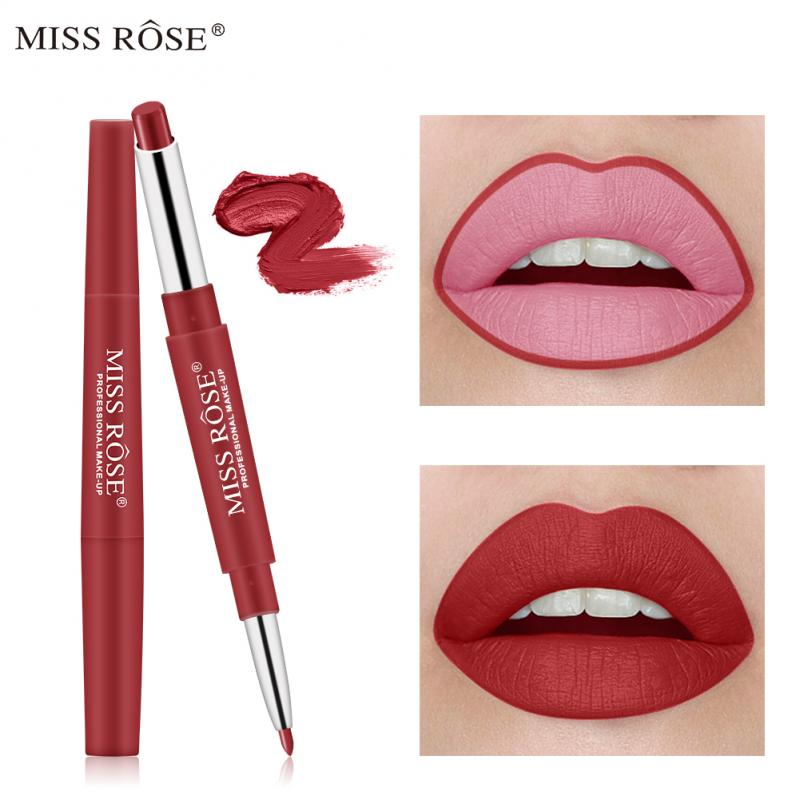 2 In 1 10 Farbe <font><b>Lip</b></font> Make-Up Liner Wasserdichte langlebige Red <font><b>Lip</b></font> Bleistift Lippenstift Nude Make-Up Damen Kosmetik lipliner Stift TSLM2 image