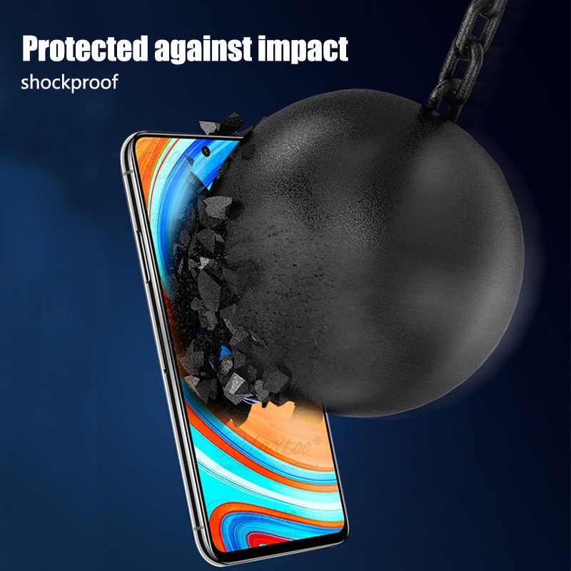 9D kavisli tam kapak tutkal temperli koruyucu cam için Xiaomi redmi note 9s 9pro 9 pro max ekran koruyucu koruyucu film