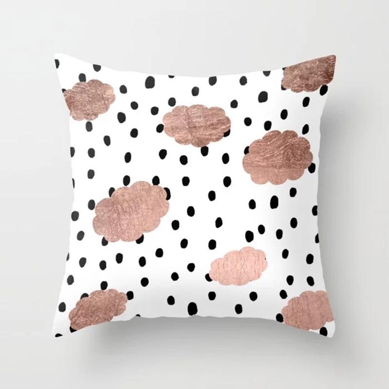 H3093ef126bc84809b18623c4d254b198e New 1PC Popular Cushion Case Geometric Tropic Pineapple Nordic Sofa Pink Pillow Decorative