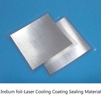 200mm*200mm*0.1mm Indium Sheet Indium Foil Laser Heat-dissipating Coating Sealing Material