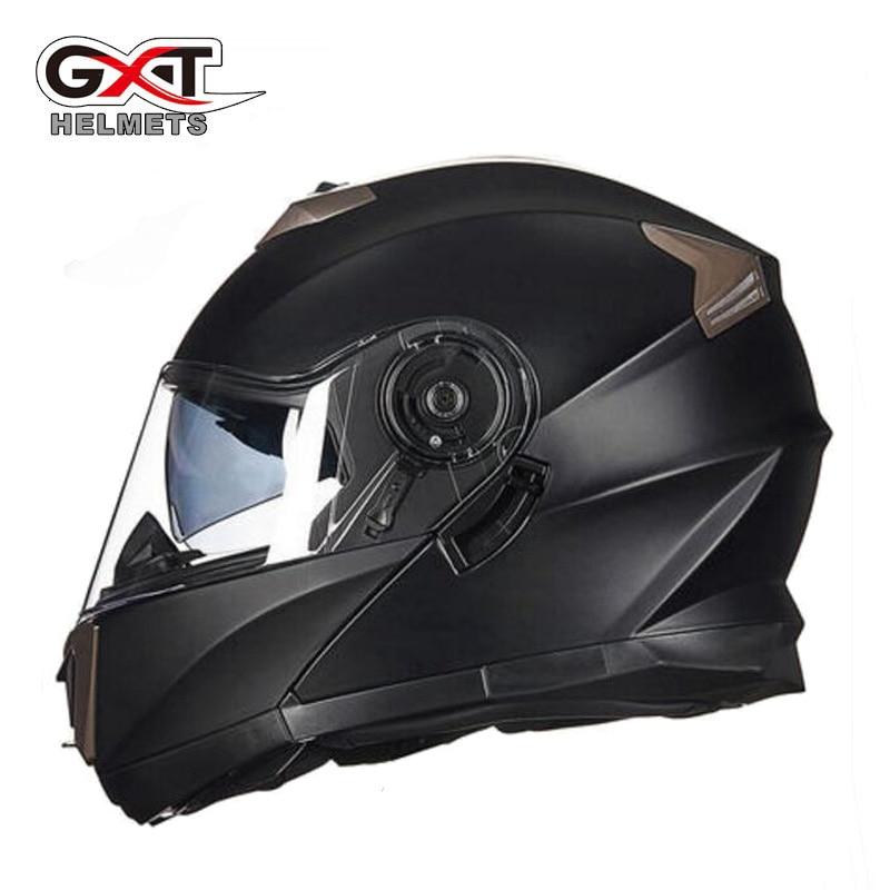 inverno anti nevoeiro lente dupla gxt flip up capacete da motocicleta para homens e mulheres motocross