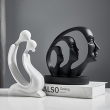 Abstract Crafts Human Face Figures Statues Sculptures Home Living Room Table Decoration Office Desk Accessories Gifts