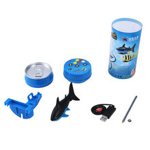 Mini RC Submarine 4 CH Remote Small Sharks Remote Control Toy With USB Christmas Children Kids Gift Unique Packaging(China)
