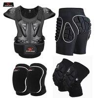 WOSAWE для взрослых, мотоциклетный защитный жилет, защита груди, спины, плеч, защита бедра, наколенники, спортивные защитные снаряжение