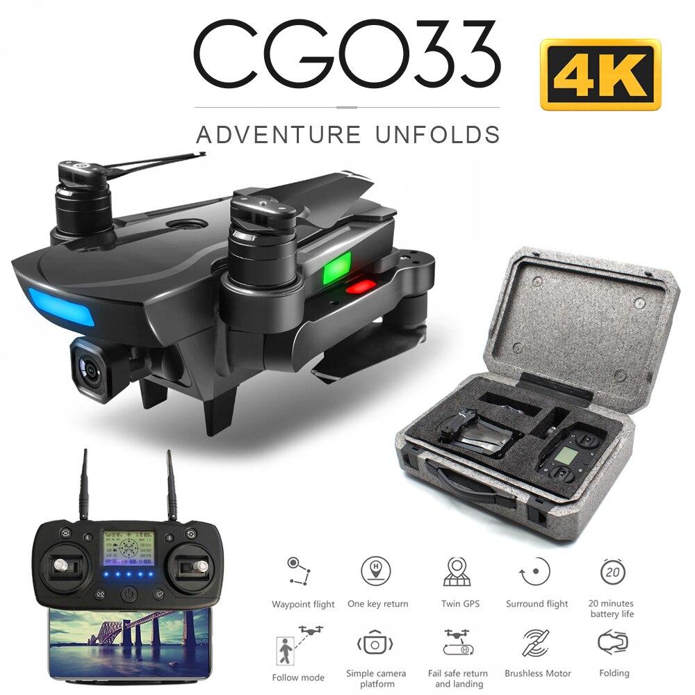 ZWN CG033 sans brosse FPV quadrirotor avec 4K HD Wifi cardan caméra RC hélicoptère pliable Drone GPS Dron enfants cadeau vs SG906 F11