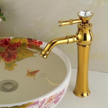 Złoty kolor wysokiej jakości pojedynczy uchwyt łazienka bateria kuchenna tanie i dobre opinie CN (pochodzenie) Tradycyjne Deck mounted Baterie basin TP01