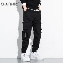 CHAIFENKO-pantalones Cargo de Hip-Hop para hombre, pantalón harén Harajuku de moda, ropa de calle informal para correr, con múltiples bolsillos y pies de corbata, M-8XL