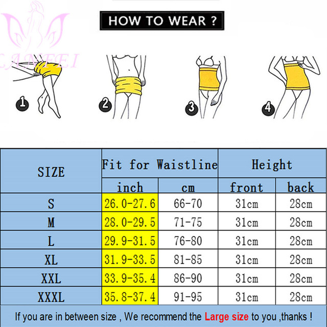 LANFEI Women Hot Neoprene Waist Trainer Belt Body Shaper Slimming Corset Suana Sweat Waist Trimmer Modeling Girdles for Fat Burn 5
