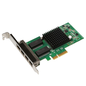 PCI-E Server Four-Port Gigabit Network Card I350-T4 Multi-Port Network Card Enterprise Black Card image