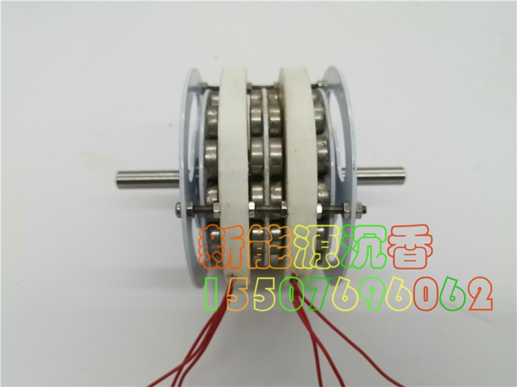 40W / 50W Miniature Double-layer Disc Coreless Generator, Mobile Power Extended Range Power Generation Diy