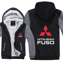 Грузовик Mitsubishi Fuso толстовки куртка зимний мужской пуловер Мужское Пальто Повседневное шерстяное лайнер флис Mitsubishi Fuso толстовки
