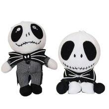 O pesadelo antes do natal jack skellington bonecas de pelúcia brinquedos macio recheado boneca presente para crianças