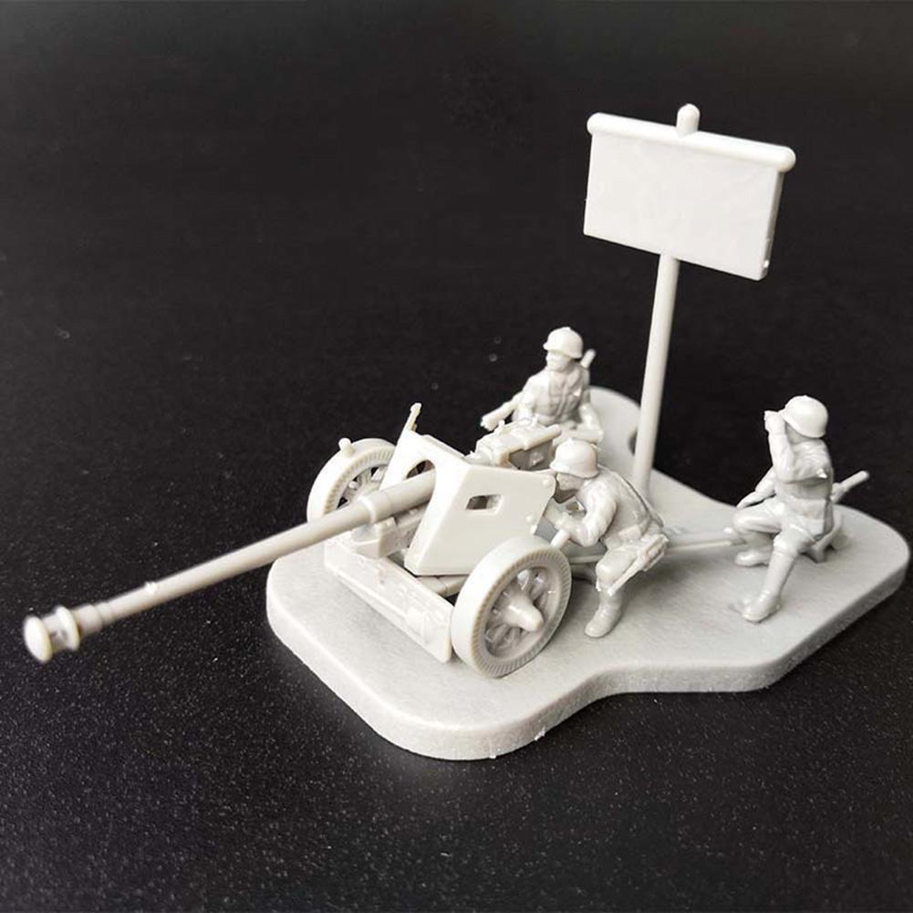 New 4D 1/72 Scenario PAK40  Tank DIY Assembly Unpainted Model Toy Kids Gift
