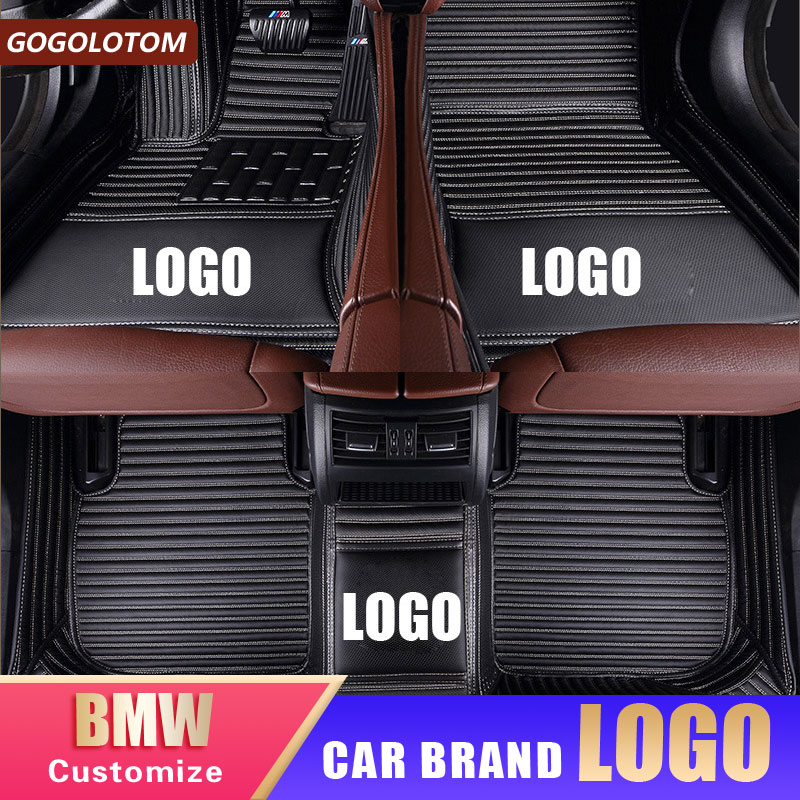Auto waterproof car <font><b>floor</b></font> <font><b>mats</b></font> For <font><b>bmw</b></font> f10 x5 e70 e53 x4 f11 x3 e83 x1 f48 e90 x6 e71 f34 e70 <font><b>e30</b></font> Custom foot <font><b>mats</b></font> car-styling image