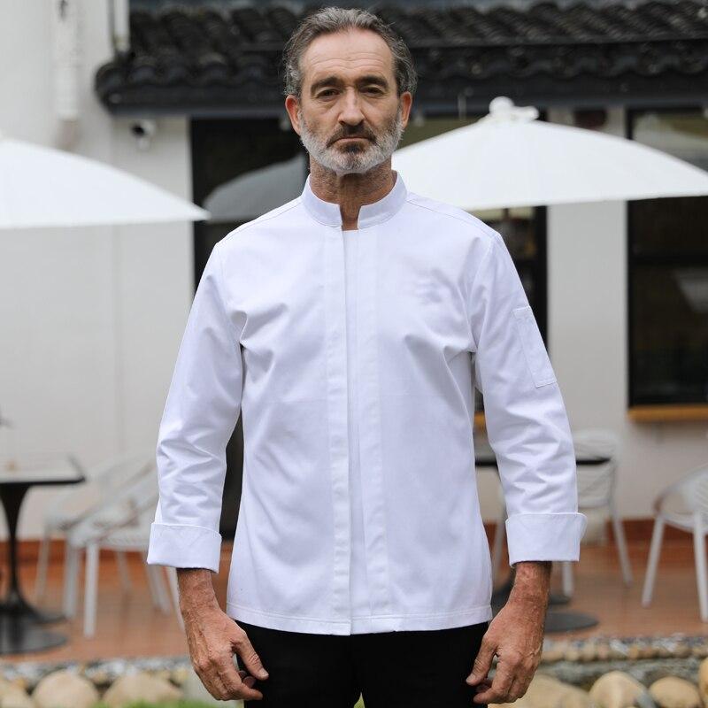 2020 High Quality Chef Restaurant Uniform 100% Cotton White French Head Chef Plus Coat Chef Men Cusotm Logo Plus