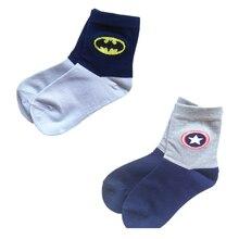 2 pairs marvel socks kids super hero Batman Captain America cartoon for boys girls cotton autumn winter mid thicksocks