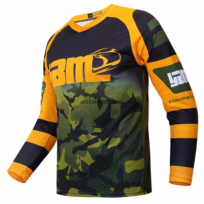MX Джерси для мотокросса Камуфляжный дизайн для горного велосипеда эндуро Джерси bmx гонщик кросс-байка одежда рубашка