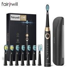 Fairywill – brosses à dents électriques pour adultes et enfants, 5 Modes, minuterie intelligente, brosse à dents sonique blanchissante Rechargeable avec 10 têtes de brosse
