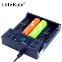 Caricabatterie Liitokala 26650 21700 32650 16340 10440 AA AAA 18650 batterie lifepo4 schermo LCD con ioni di litio per auto 3.7V 1.2V