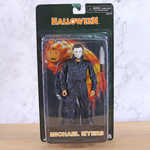 Neca dia das bruxas figura de ação do michael myers, brinquedo de modelo, presente da boneca