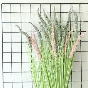 Новый 5 голов/ветка шалфея трава с листьями ПЭ искусственный цветок украшения Инс лук трава Свадьба поддельные растения зеленый