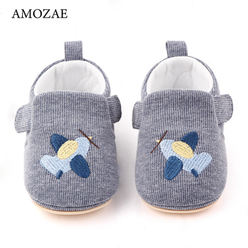 2020 New Arrival Non-slip Breathable Rubber Sole Baby Shoes 0-1 Year Old Pair oOf Velcro Votton Baby Shoes Toddler Shoes image