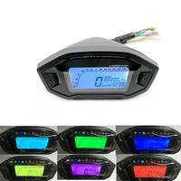 12V Universal Motorcycle LCD Digital 13000rpm Speedometer Backlight Motorcycle Odometer