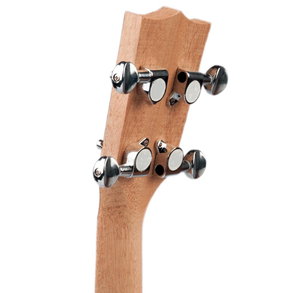 Juego de 4 clavijas de afinaci/ón para ukelele selladas con clavijas de afinaci/ón de plata para guitarra de 4 cuerdas
